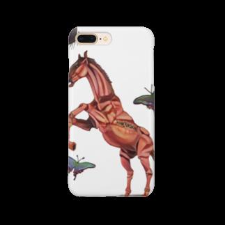 波田野剛望(はたのたけみ)の馬と蝶 Smartphone cases