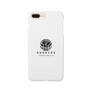 バスケ ボール シンプル モノクロ Smartphone cases