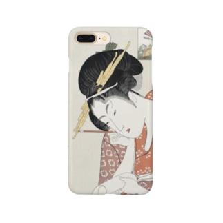 ukiyoe-bijinga-utamaro 高名美人六家撰 扇屋花扇(スマホケース) Smartphone cases