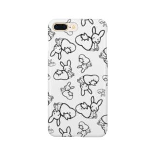 カオスうさぎ:モノクロ:枠【多数】 Smartphone cases