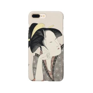 ukiyoe-bijinga-utamaro 歌撰恋之部 物思恋(スマホケース) Smartphone cases