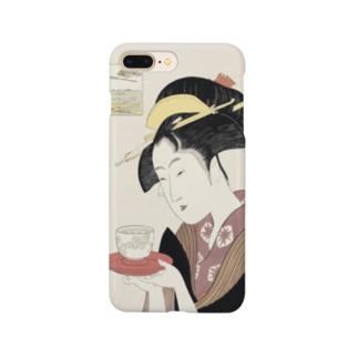 ukiyoe-bijinga-utamaro 高名美人六家選 難波屋おきた(スマホケース) Smartphone cases