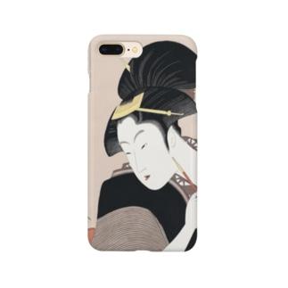 ukiyoe-bijinga-utamaro 歌撰恋之部 深く忍恋(スマホケース) Smartphone cases