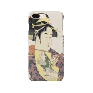 ukiyoe-bijinga-utamaro 当世踊子揃 道成寺(スマホケース) Smartphone cases