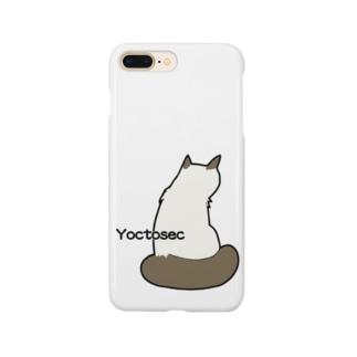 Yoctosec 背中で語る猫 Smartphone cases