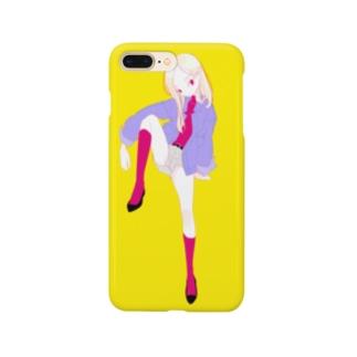 ピンクのソックス スマートフォンケース