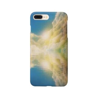 湖面に写り込む Smartphone cases
