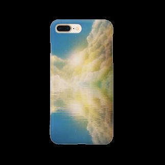 ☆ファイター☆の湖面に写り込む Smartphone cases