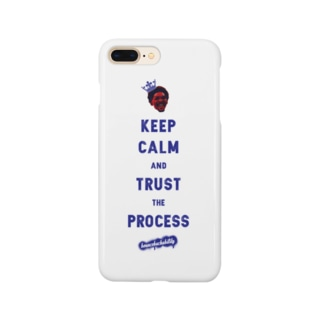 TRUST THE PROCESS -blue- Smartphone cases