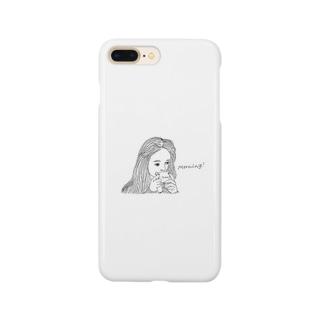 寝起きガール Smartphone cases