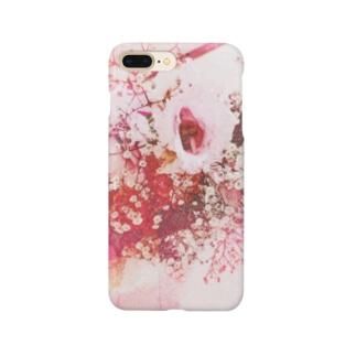 フラワー水彩 Smartphone cases