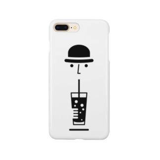 ドリンクを飲む男性 Smartphone cases