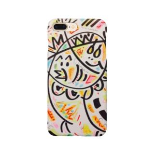 ひよこ君と雛祭り中のゆで卵chanの、わっしょい祭り Smartphone cases