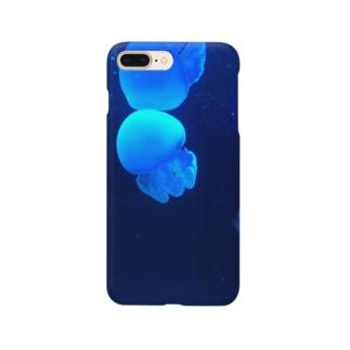 青い海月 Smartphone cases