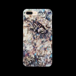 カラカラの殻のアゲハ Smartphone cases