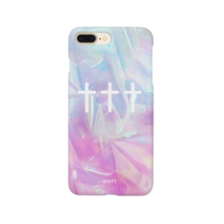 【IENITY】HOLOGRAPHIC #TRIPLE CROSS Smartphone cases