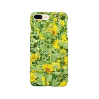 夏の太陽と向日葵 Smartphone cases
