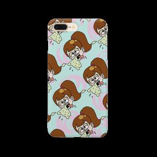 はるちゃの鼻水ガール総柄 Smartphone cases