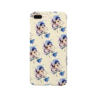 頬袋パンパンハムスター水彩画風 Smartphone cases