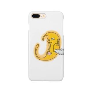 にやけるお月様 Smartphone cases