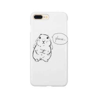 おねだりロップ Smartphone cases