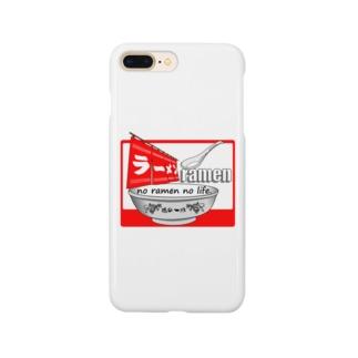 ラーメンTシャツ(魂の一杯:赤) Smartphone cases