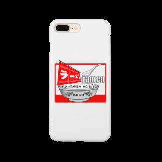 TAMA Carat☆たまカラット☆のラーメンTシャツ(魂の一杯:赤) Smartphone cases