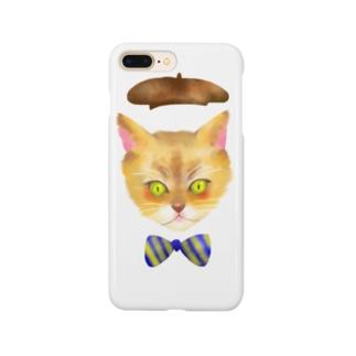いちごやさんの冬のおめかしねこ Smartphone cases
