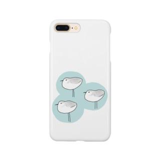 ミユビシギ(青) Smartphone cases