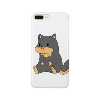 ちょこんとおすわり黒柴 Smartphone cases