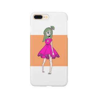 モノトーン星物販ブースの単眼Girl Smartphone cases