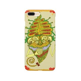 アトリエ葱のとうもろこしの細胞から弾けるポップコーンの怪物 Smartphone cases
