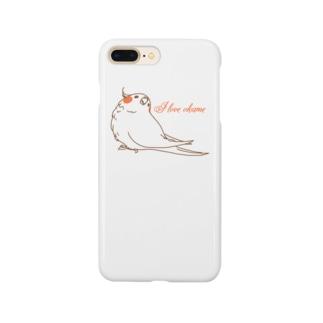 I  LOVE オカメ Smartphone cases