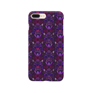 zuizui textileの架空植物Ⅰ_ purple Smartphone cases