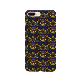 zuizui textileの架空植物Ⅰ_ yellow Smartphone cases