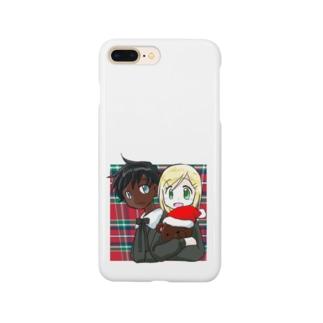 黒白クリスマス Smartphone cases