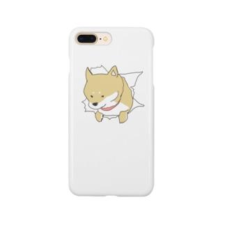 突きぬ犬(茶) Smartphone cases