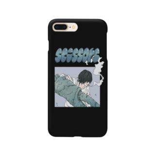 Scissors(ブラック) Smartphone cases