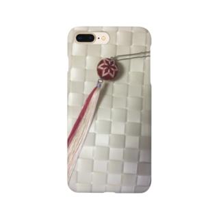 ハンドメイド手毬と草木染めシルクタッセルのかんざし Smartphone cases