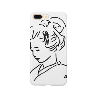 美女03 スマートフォンケース