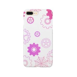【ゆめかわいい】蜘蛛の糸・歯車 Smartphone cases
