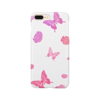 【ゆめかわいい】蝶と花 Smartphone cases