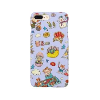 もりもり王様☆藤色 Smartphone cases