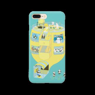 ムクデザインのパンダンチ Smartphone cases