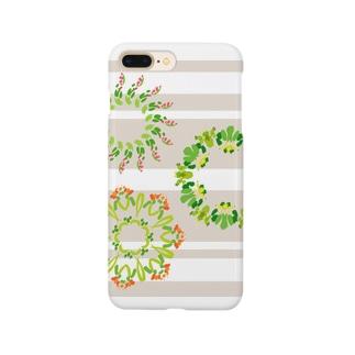 フラワーリース Smartphone cases