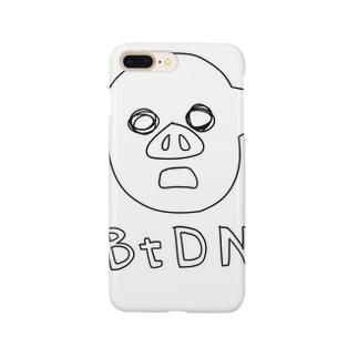 迫真手書き(黒) Smartphone cases