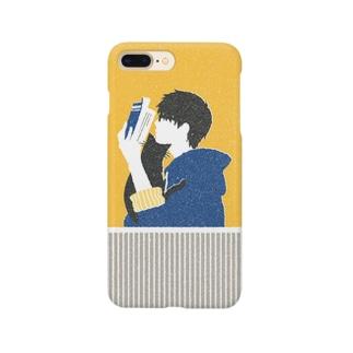 メガネ君と猫 Smartphone cases