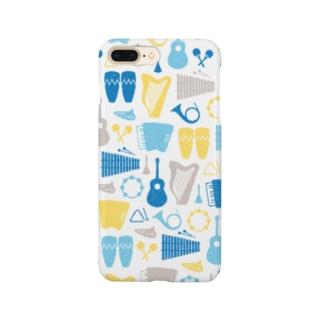 楽器(青系) Smartphone cases