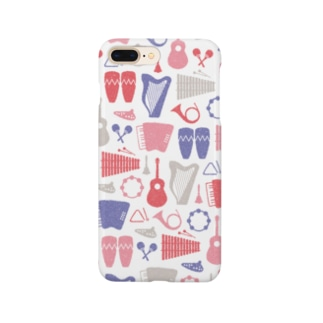 楽器(赤系) Smartphone cases