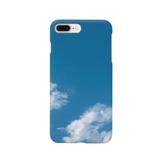 晴天の空と雲 Smartphone cases